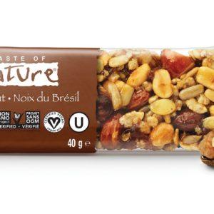 Biologische Taste of Nature Brazil Nut reep met bio paranoten